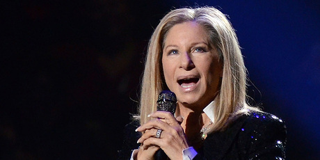Barbra Streisand performing at the Barclays Center in the Brooklyn. Photo/AP