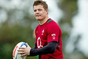 Brian O'Driscoll has played 120 tests for Ireland. Photo / Dean Purcell.