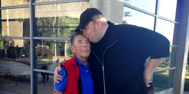 Paul Holmes with his buddy Kim Dotcom. Photo / Millie Holmes
