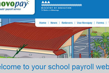 The Novopay home page.