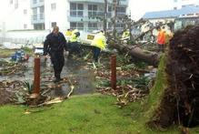 Mini-tornadoes ripped through two coastal towns in Queensland. Photo / Twitter/Debsta11