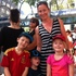 Wellington mum Amanda Poole waits for the parade to start with her children Campbell, 7, Lucy, 5, and George Roach, 3. Photo / Matthew Backhouse