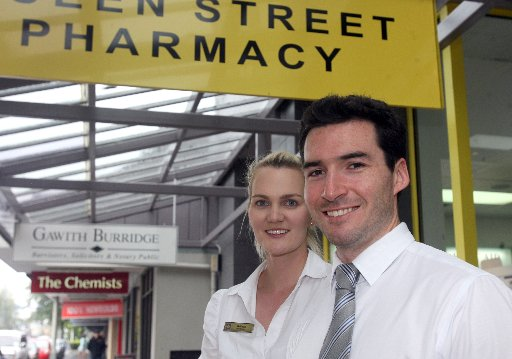 BITTERSWEET: Belinda and Hamish Duncan of Queen Street Pharmacy will merge with The Chemists.