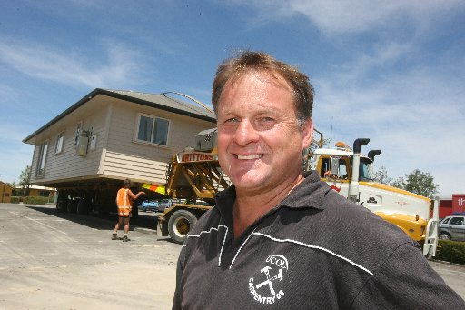 ENTERPRISING: Brett Tickner, programme co-ordinator for UCOL Wairarapa carpentry, in front of the two-bedroom home built by Wairarapa UCOL carpentry students.