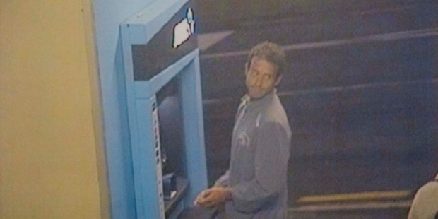 Loading A video image shows Paul Arber at an ATM  shortly before he vanished.