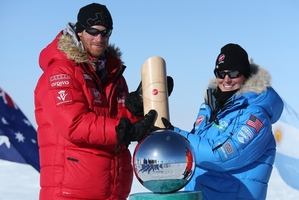 Prince Harry has reached the South Pole after a three-week trek. Photo / AP