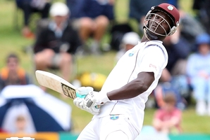 Darren Sammy contributed 80 to the West Indies' test-saving second innings of 507 at University Oval in Dunedin. Photo / Getty Images