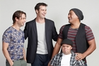 <i>Life's Too Short</i> cast, from left, Glen Levy, Millen Baird, James Fletcher and Fasitua Amosa, are game for a laugh.