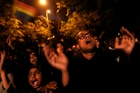 Gay rights activists took to New Delhi streets after a court quashed a 2009 ruling legalising homosexuality. Photo / AP