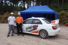 THRILLS: Nick Franklin (left) and James Perry hope their new rally experience near Rotorua will take off. PHOTO/SUPPLIED 111213RALLY