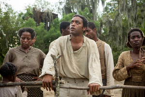 Chiwetel Ejiofor, center, in a scene from '12 Years A Slave'. Photo / AP