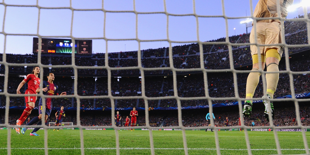 Manuel Neuer of Bayern Muenchen makes a save during the UEFA Champions League semi-final second leg match between Barcelona and FC Bayern Muenchen. Photo / Getty Images.