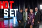 Hot Set's Ben Mankiewicz, Curt Beech, Lilly Kilvert and Barry Robison.