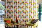 Orla Kiely wallpaper, available from Paper Room. Photo / Supplied.