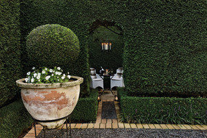 The garden at Huka Lodge. Photo / Supplied