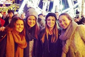 Kiwis (from left) Gemma Gastaldo-Brac, Lara Shapiro, Bridgette Walker and Emma Lines are living the London life.