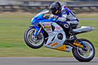 Dennis Charlett (Suzuki GSX-R1000) is the defending Suzuki Series champion in the premier formula one class and knows he's got his work cut out defending his title this year. Pictures / Andy McGechan
