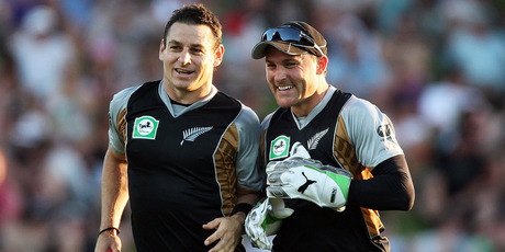 Nathan and Brendon McCullum. Photo / Getty Images