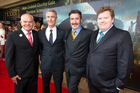 From left, Mark Hadlow (Dori), Jed Brophy (Nori), William Kircher (Bifur) and Stephen Hunter (Bombur) at the NZ premiere of The Hobbit: The Desolation of Smaug. Photo / Mark Mitchell