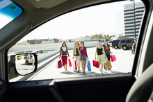 If possible, park near high foot-traffic areas of parking buildings when shopping.