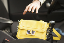 Don't leave your handbag in your car.