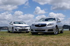 Of the Camry (left) and the Malibu, each has fleet-worthy economy, with minor drawbacks that will make them hard to choose between. Pictures / David Linklater