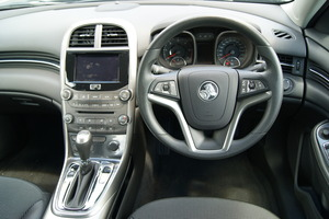 The interior of the Holden Malibu. Photo / David Linklater