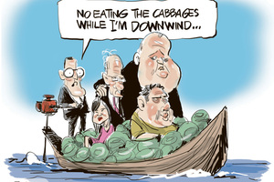 John Banks in Cabbage boat. Image / Rod Emmerson