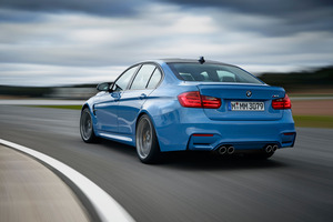 The rear of the BMW M3.