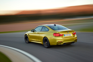 The rear of the BMW M4 coupe.