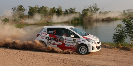 Michael Young and Malcolm Read in action during the Thailand Rally. Photo / APSM