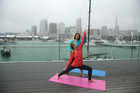 Outdoor hatha yoga with Cheryleita Downie lifted Rachel Grunwell's spirits. Photo / Getty images