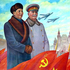 Mao Zedong and Joseph Stalin, 1951.