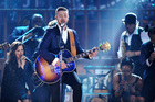 Justin Timberlake performs on stage at the American Music Awards at the Nokia Theatre in November. Photo / AP