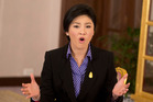 Thai Prime Minister Yingluck Shinawatra speaks during an interview with foreign media. Photo / AP