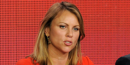 Reporter Lara Logan takes part in a panel discussion.