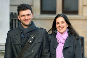 Louisa Hodkin and her fiancee Alessandro Calcioli have won a battle to marry in a Church of Scientology chapel. Photo / AP