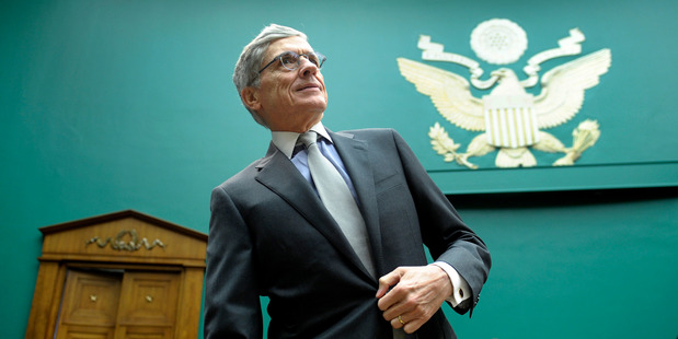 Federal Communications Commission Chairman Tom Wheeler arrives on Capitol Hill in Washington. Photo / AP