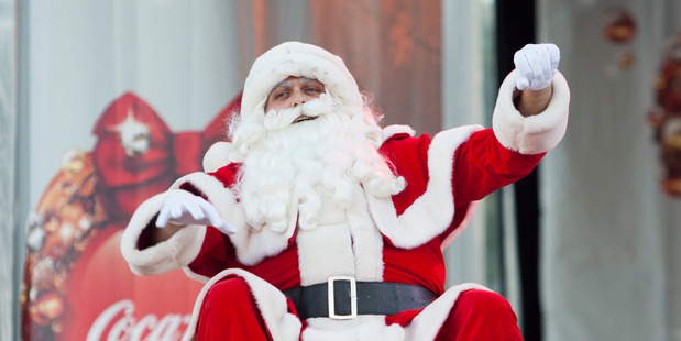 Santa at Christmas in the Park. File photo / NZ Herald