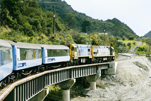 Tranz Alpine train travelling from Christchurch to Greymouth. Photo / File