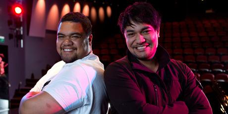Brothers Amitai and Pene Pati. Photo / Simon Baker