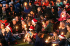 The annual Christmas Carols by Candlelight in Kuirau Park is a family event to celebrate the festive spirit. Photo / Stephen Parker