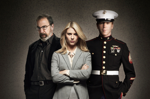 Mandy Patinkin, Claire Danes and Damian Lewis in Homeland.