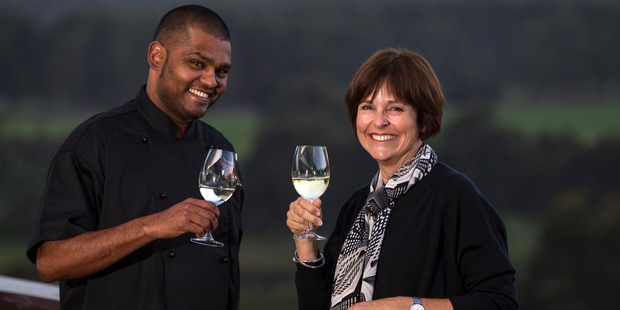 Pepper and Salt restaurant's executive chef Silas Masih and Judy Bailey.