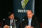 Vector chairman Michael Stiassny and chief executive Simon Mackenzie. Photo / Brett Phibbs