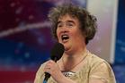 British singer Susan Boyle singing on 'Britain's Got Talent'.