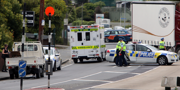 Police are investigating whether the girl was on the crossing when hit by the truck.