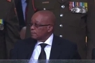 South African president Jacob Zuma was repeatedly booed on Tuesday, at a memorial service for the late Nelson Mandela held at Soweto's World Cup stadium.