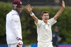 Trent Boult has got on top of the West Indies early on day three. Photo / Getty Images