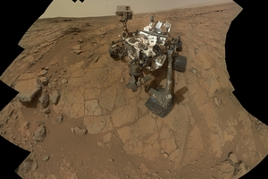 Nasa has uncovered a Martian rock unlike anything seen by scientists before. Photo / AP